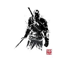 The Witcher sumi-e V2 Photographic Print