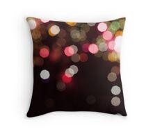 Colourful Fireworks Bokeh Throw Pillow