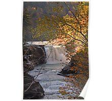 Golden Light on Letchworth Lower Falls Poster