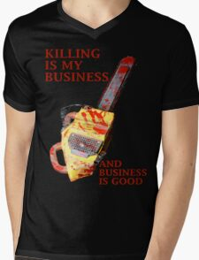 KILLING IS MY BUSINESS AND BUSINESS IS GOOD Mens V-Neck T-Shirt