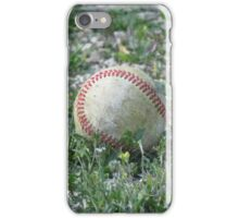 Baseball Lying in the Grass iPhone Case/Skin
