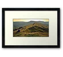 View Over The Peaks Framed Print