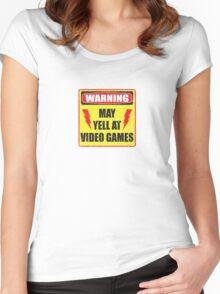 Gamer Warning Women's Fitted Scoop T-Shirt