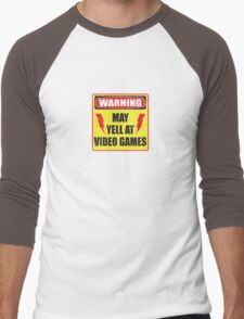 Gamer Warning Men's Baseball ¾ T-Shirt