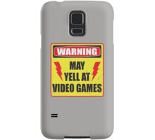 Gamer Warning Samsung Galaxy Case/Skin