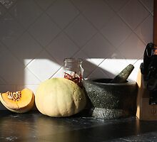 Pumpkin and Dried Chillis by suburbanjubilee