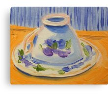 Yellow afternoon tea Canvas Print