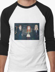 Librarians characters - Jake, Cassandra & Eve Men's Baseball ¾ T-Shirt