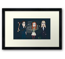 Librarians characters - Jake, Cassandra & Eve Framed Print