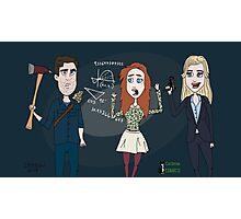 Librarians characters - Jake, Cassandra & Eve Photographic Print