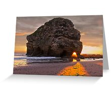 Projection Through Rock Greeting Card