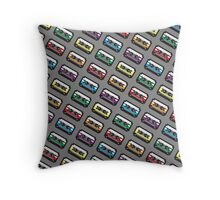 PIXEL CASSETTES  Throw Pillow