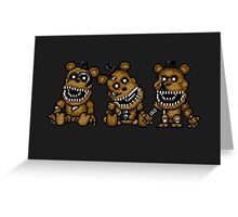 Five Nights at Freddys 4 - Mini Freddy's - Pixel art Greeting Card