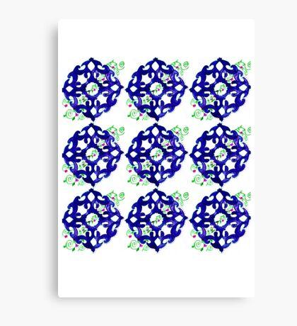 ethnic style blue pattern Canvas Print