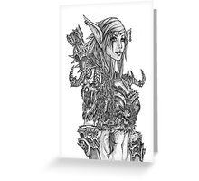 Skull Elf Ranger Greeting Card