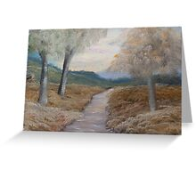 An Evening Walk  Greeting Card