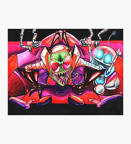 !!!ZIM!!! and Gir in the Voot Cruiser Photographic Print