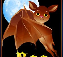Sweet Halloween Boo Bat by Lotacats