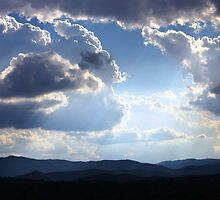 Summer clouds over Brindabella Range by Tim Coleman