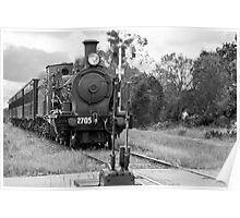 Engine 2705 Arriving at Buxton NSW Poster