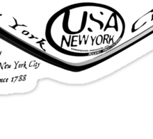 welcome to USA New York by ian rogers ( rogers bros ) Sticker
