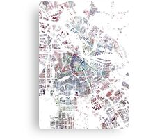 Amsterdam map watercolor painting Canvas Print