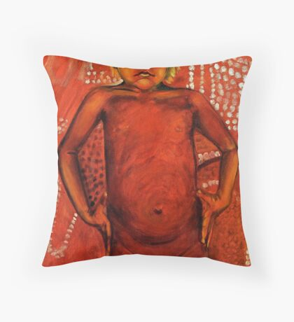 Indigenous and proud Throw Pillow