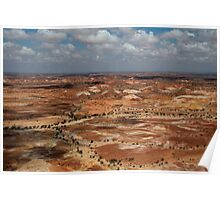 The Painted Hills of South Australia Poster