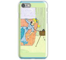 Retro Girl on the Phone iPhone Case/Skin