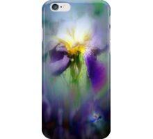 Raindrops on Purple Irises #7, nightshade iPhone Case/Skin