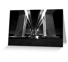 Brisbane's Gateway Bridge (Part 2) B&W Greeting Card