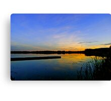 Hasse Lake Sunset, Alberta Canada Canvas Print