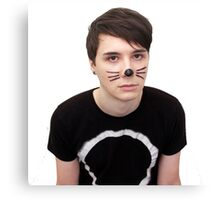 dan howell w/ cat whiskers Canvas Print
