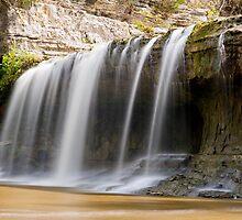 Upper Cataract Falls - Left Side by Kenneth Keifer