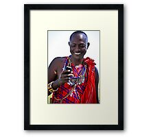 Mobile Maasai  Framed Print