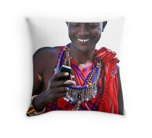 Mobile Maasai  Throw Pillow