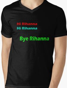 HI RIHANNA Mens V-Neck T-Shirt