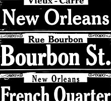 Street Sign Scenes of New Orleans by Saundra Myles