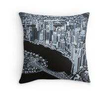 Shades of Brisbane Throw Pillow