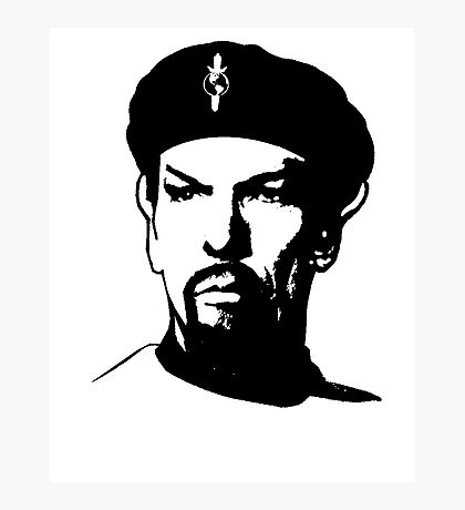 Evil Spock Plain  Photographic Print