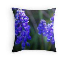 Random Purple Flowers Throw Pillow