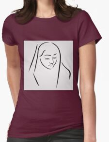 A nun wearing a veil with eyes closed in silent prayer T-Shirt