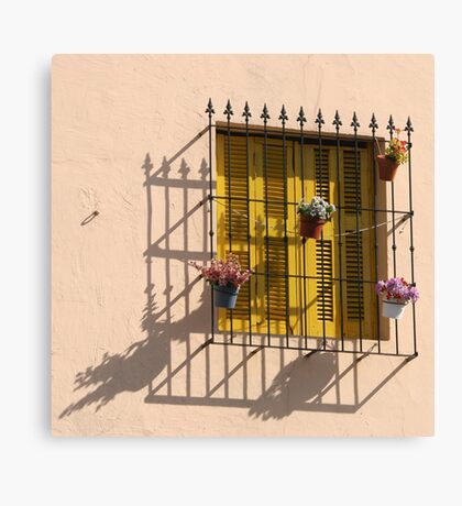 Yellow Shutters in La Boca Canvas Print