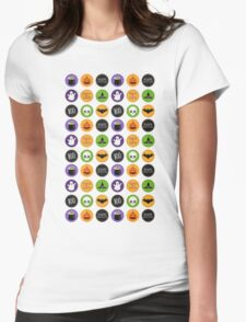 Halloween Pattern Womens Fitted T-Shirt