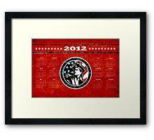 American Patriot Flag Poster Calendar 2012 Framed Print