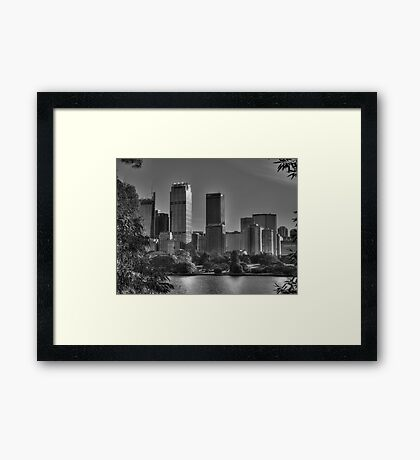 Sydney in Black and White Framed Print