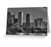 Sydney in Black and White Greeting Card