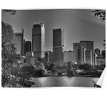 Sydney in Black and White Poster