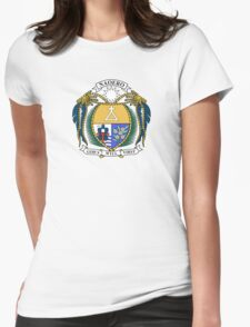 Coat of Arms of Nauru  Womens Fitted T-Shirt