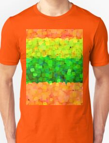 Sparkle and Glitter Orange and Green Unisex T-Shirt